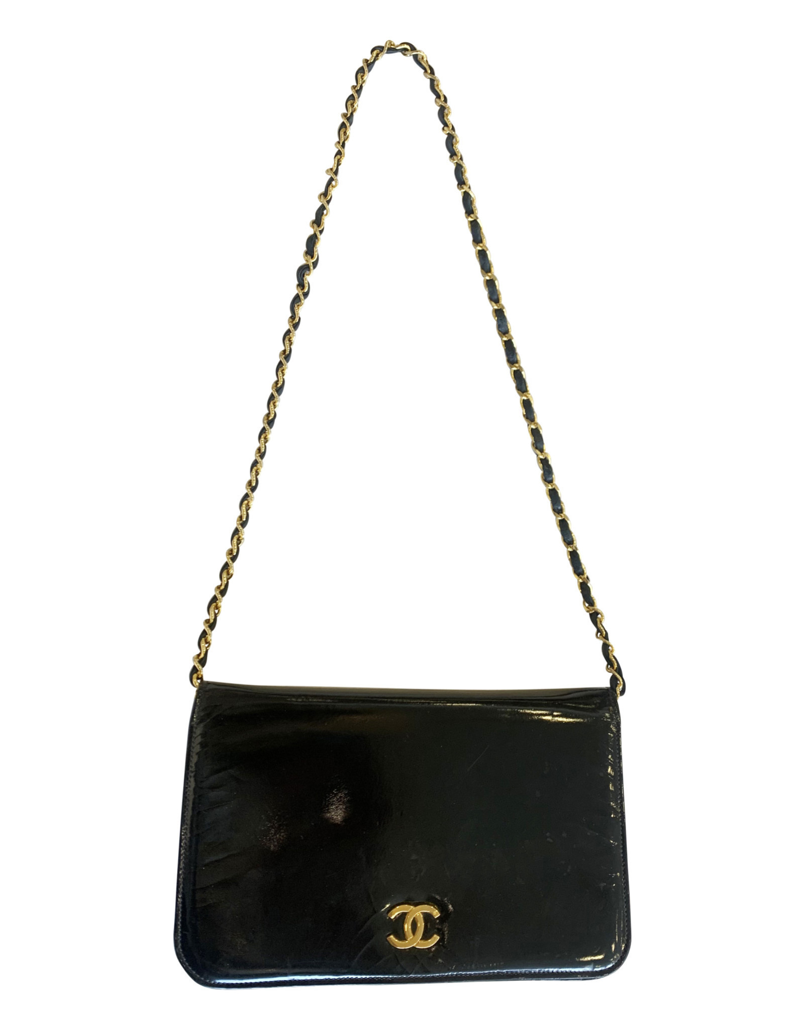 Chanel Chanel Black Patent Crossbody Bag (Vintage)