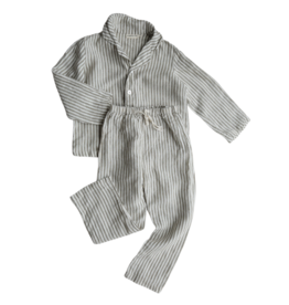 Summer & Storm Lounge Linen Set Olive Stripes