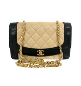 Chanel Chanel Color Block Diana Bag (Vintage)