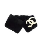 Wyld Blue Vintage Chanel Black Lapin Muffler