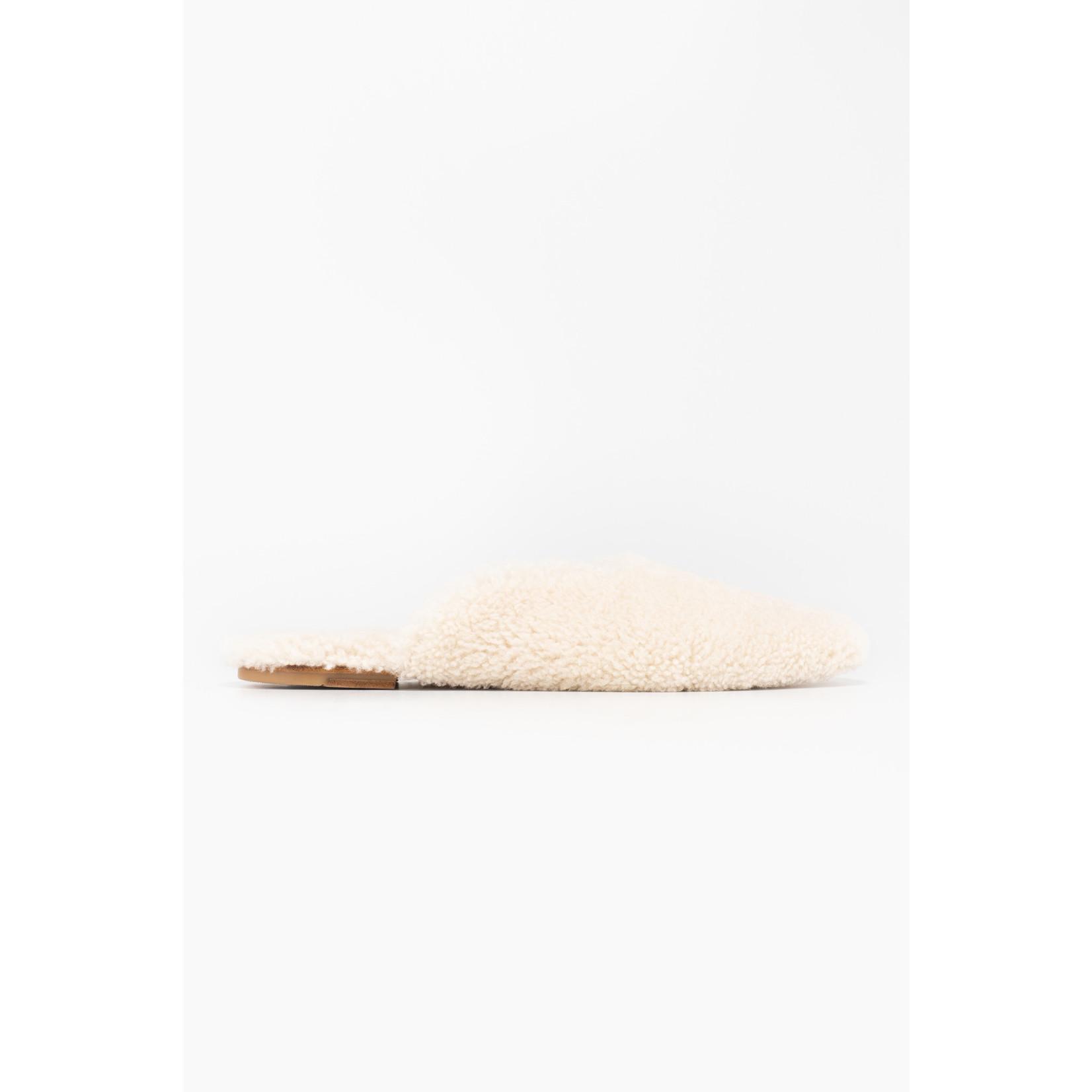 The Sleeper Cream Shearling Slippers