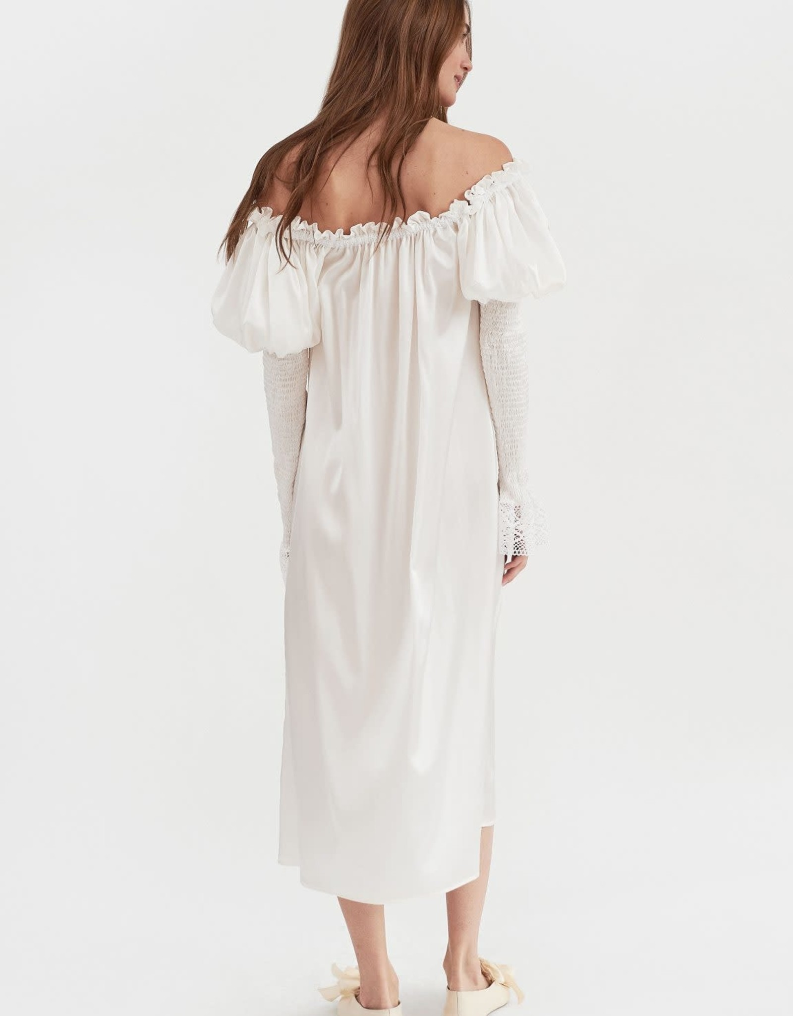 The Sleeper Opera Silk Dress Pearl White