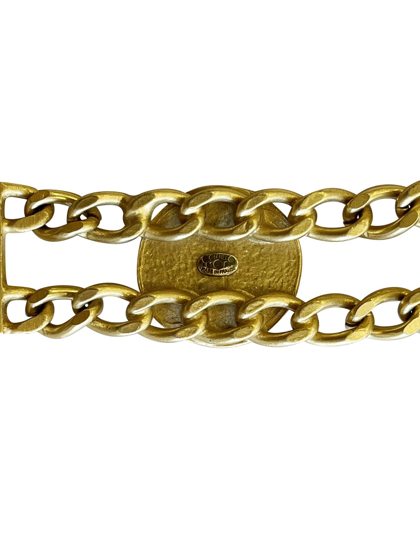 Wyld Blue Vintage Chanel Black & Gold Charm Bracelet