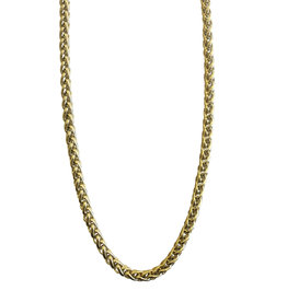 Wyld Blue Gold Braided Chain Necklace