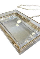 Wyld Blue Clear & Gold Rectangle Bag