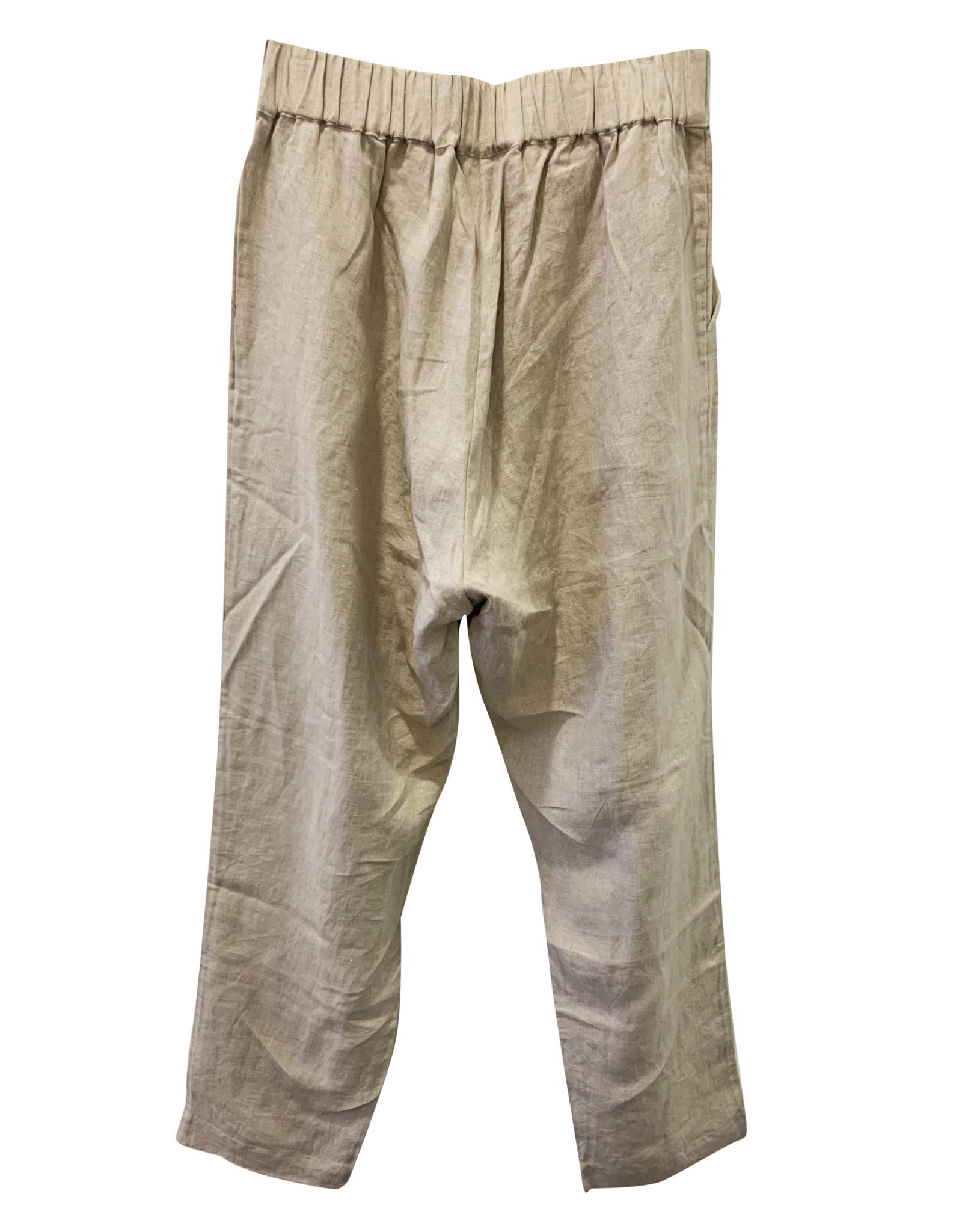 Avenue Avenue Cream Linen Pants