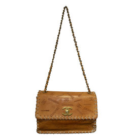 Wyld Blue Vintage Chanel Large Western Bag