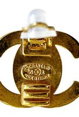 Wyld Blue Vintage Chanel Gold Turnlock Earrings 1996's Vintage