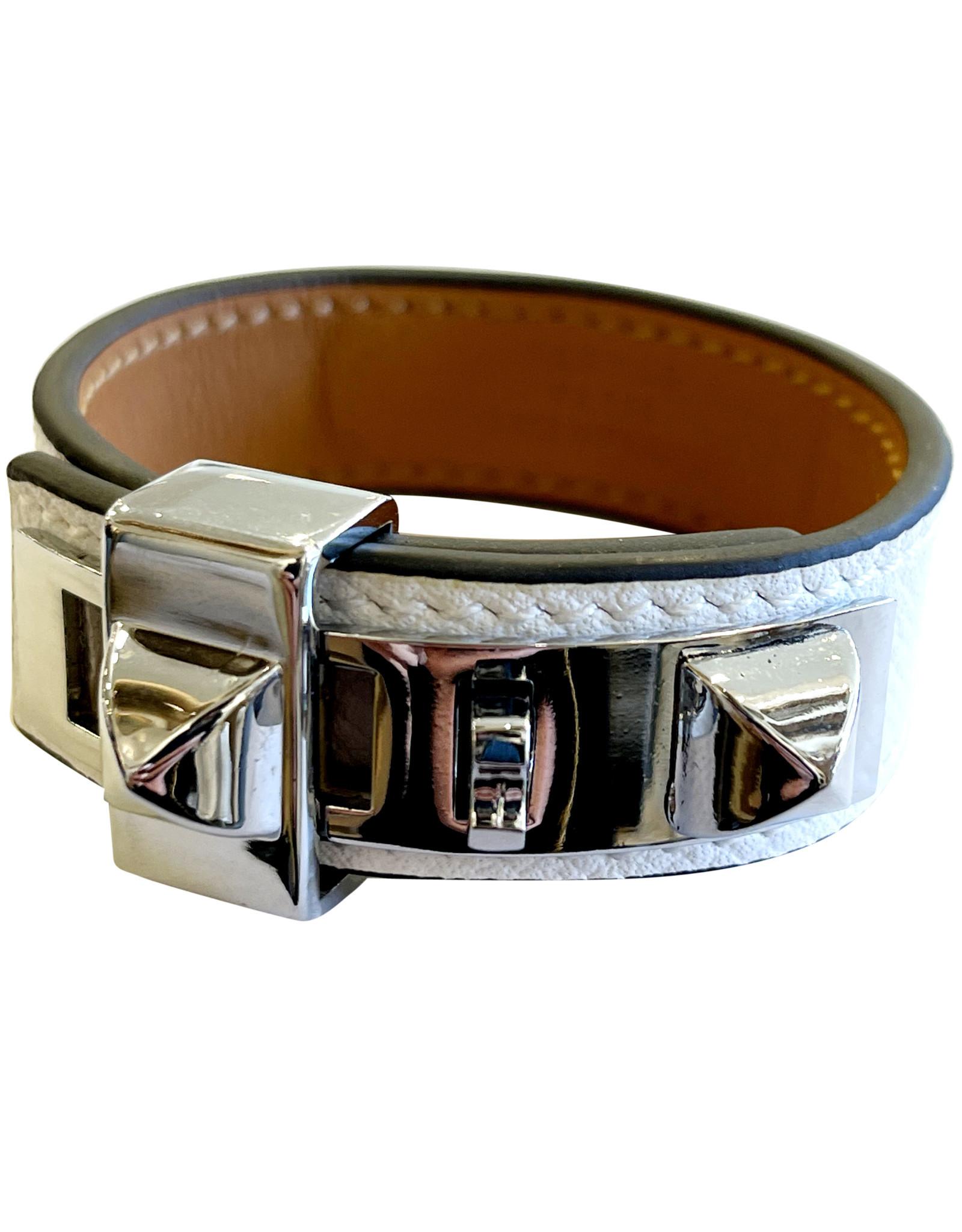 Hermes Hermes White Gold Enamel Cuff