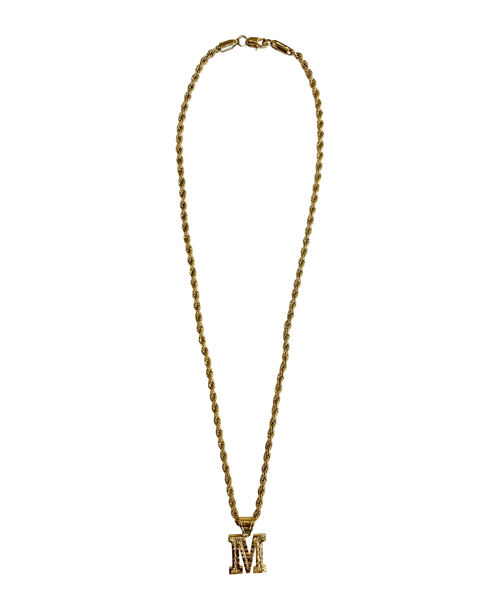 """Wyld Blue Initial Rope Chain 18"""""""