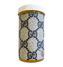 Sarah Coleman Designer Grey GG Monogram Pill Bottle XL
