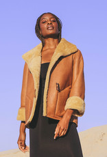 Therma Kota Aldis Reversible Shearling Jacket Gingersnap