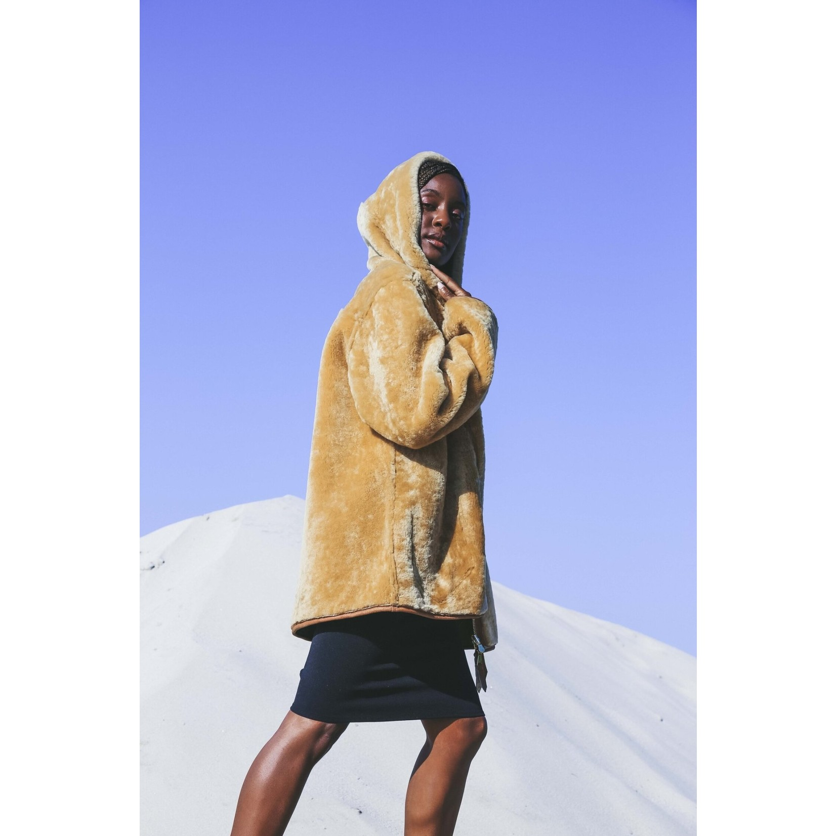 Therma Kota Silja Reversible Shearling Jacket Gingersnap