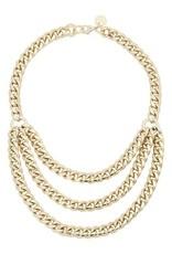 Eklexic Three Layered Gold Chain