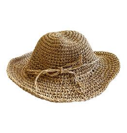 Wyld Blue Kids Straw Crochet Hat