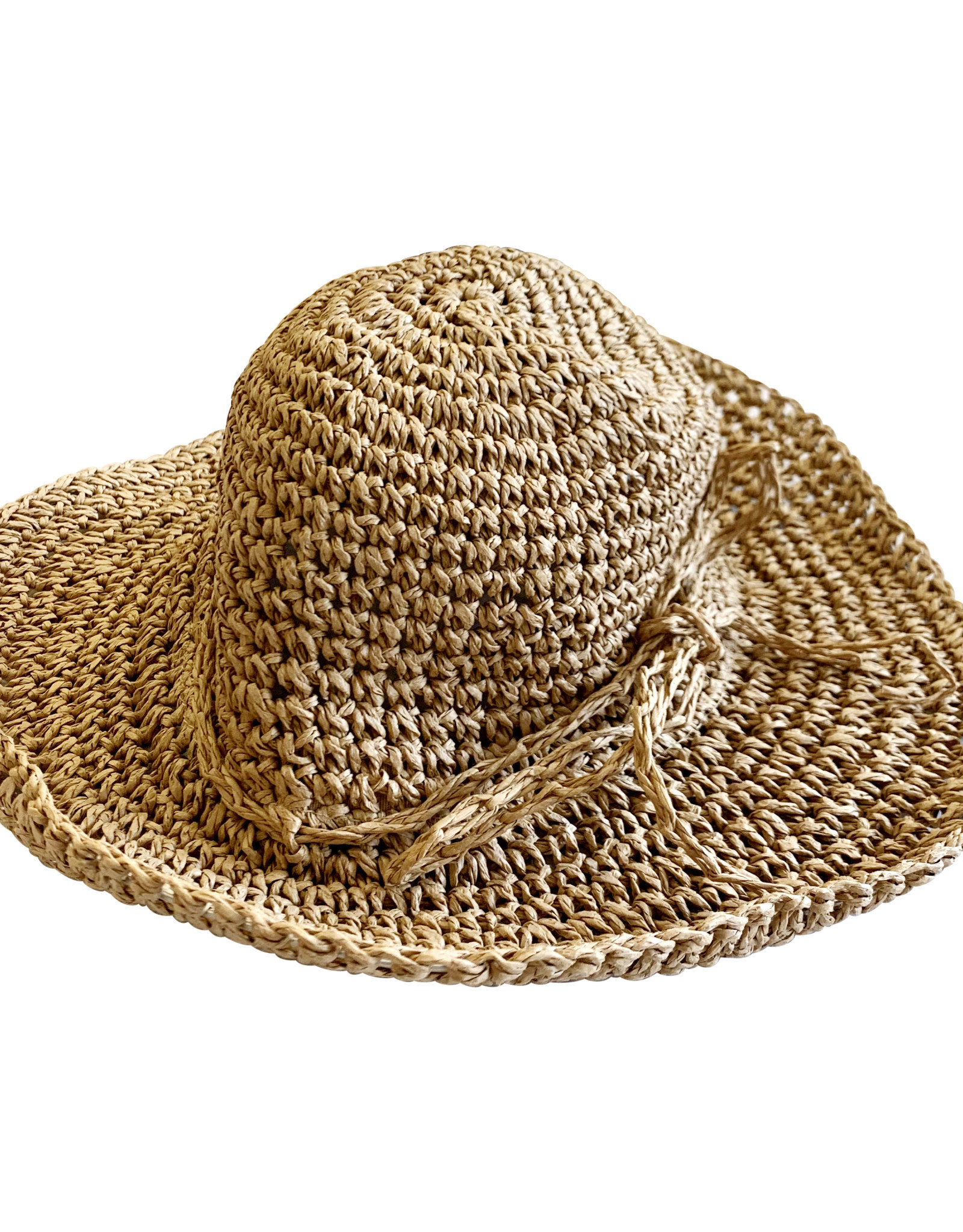 Wyld Blue Kids Straw Crochet Hat