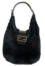 Wyld Blue Black Fur Fendi Bag