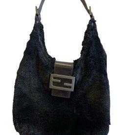 Wyld Blue Black Fur Fendi Bag
