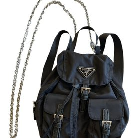 Wyld Blue Mini Prada Nylon Backpack