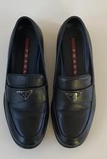 Wyld Blue Vintage Prada Logo Loafers Black (sz 5.5)