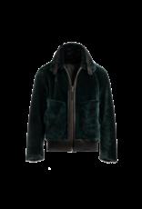 Arjé Neptune Reversible Shearling Jacket Emerald