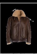 Arjé Neptune Reversible Shearling Jacket Cognac