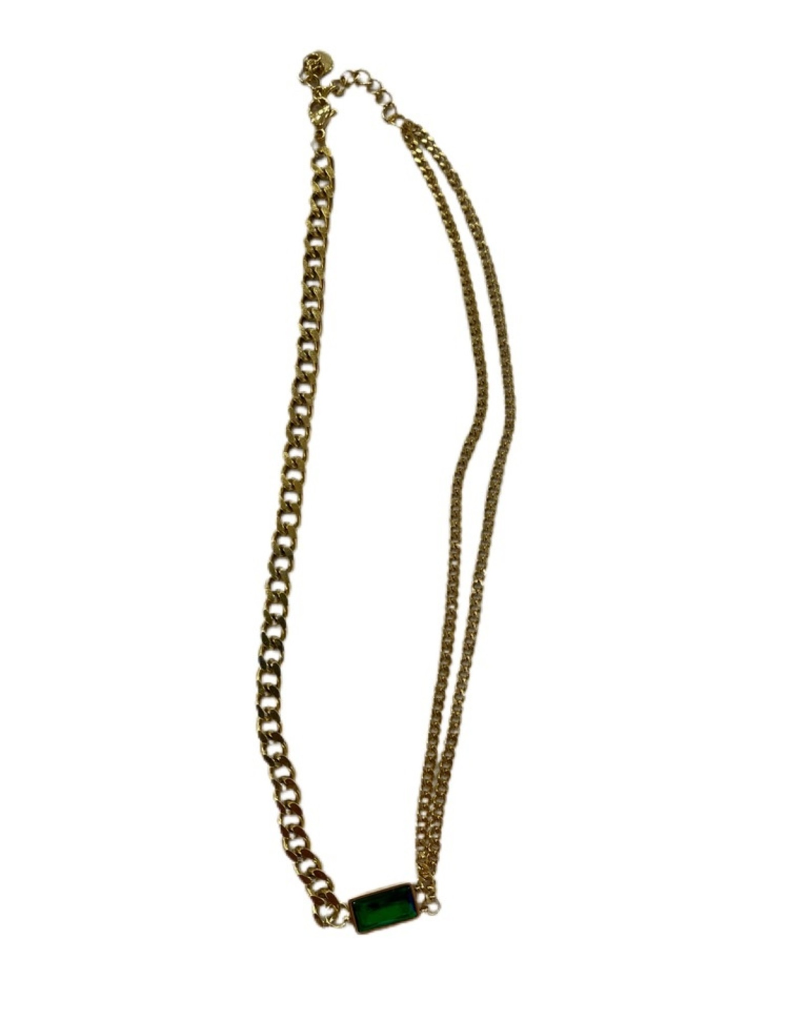 Wyld Blue Emerald Pendant Necklace