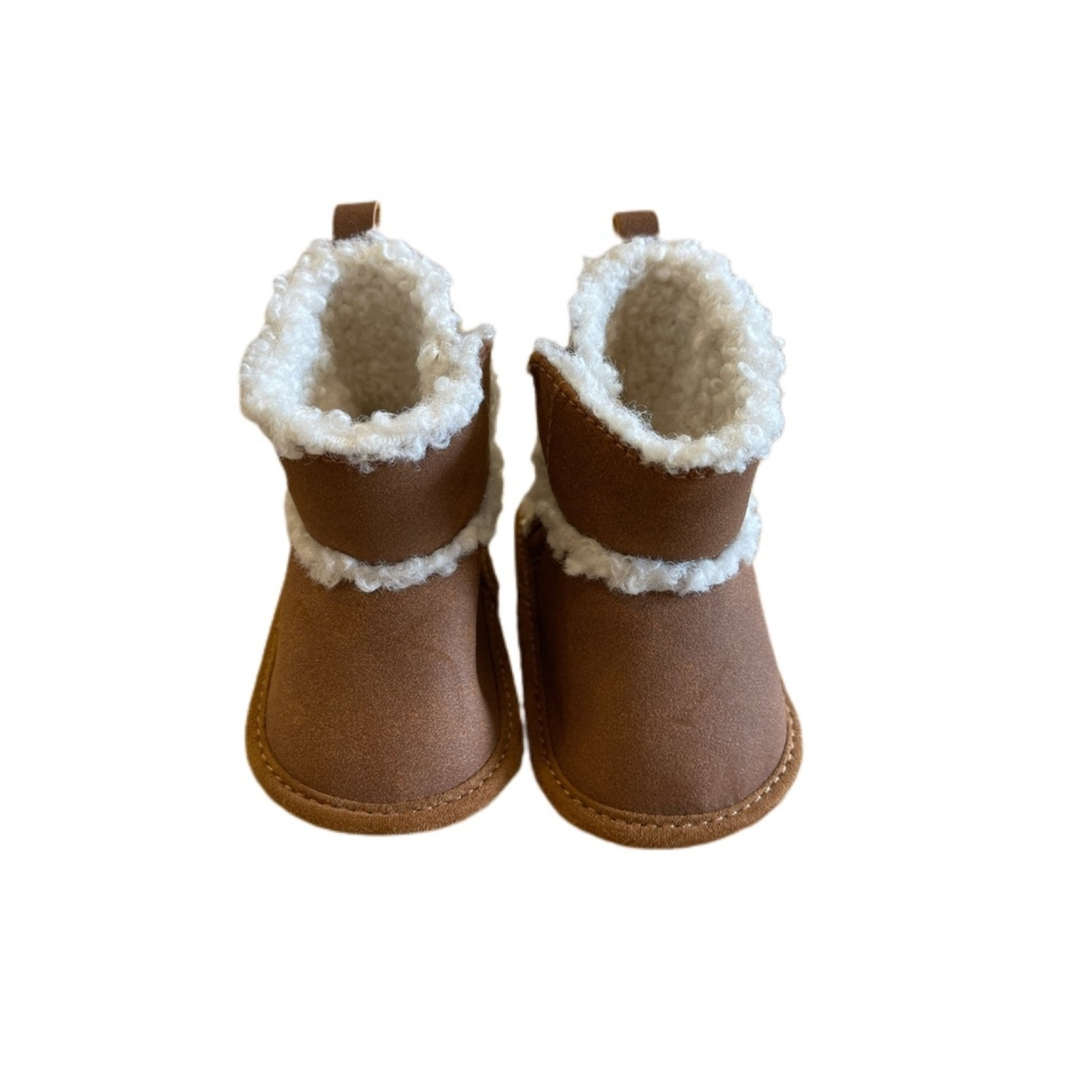 Wyld Blue Baby Carter Ugg Boots Brown Fur Lining