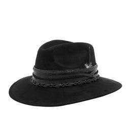 Tuluminati Ikal Hat Black Suede