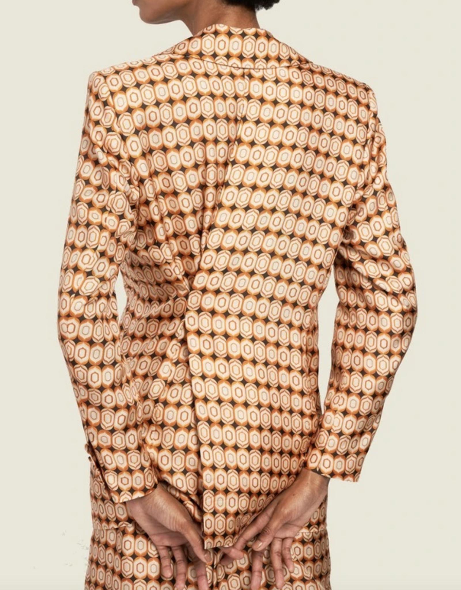 Ronny Kobo Grecia Blazer Oval Print
