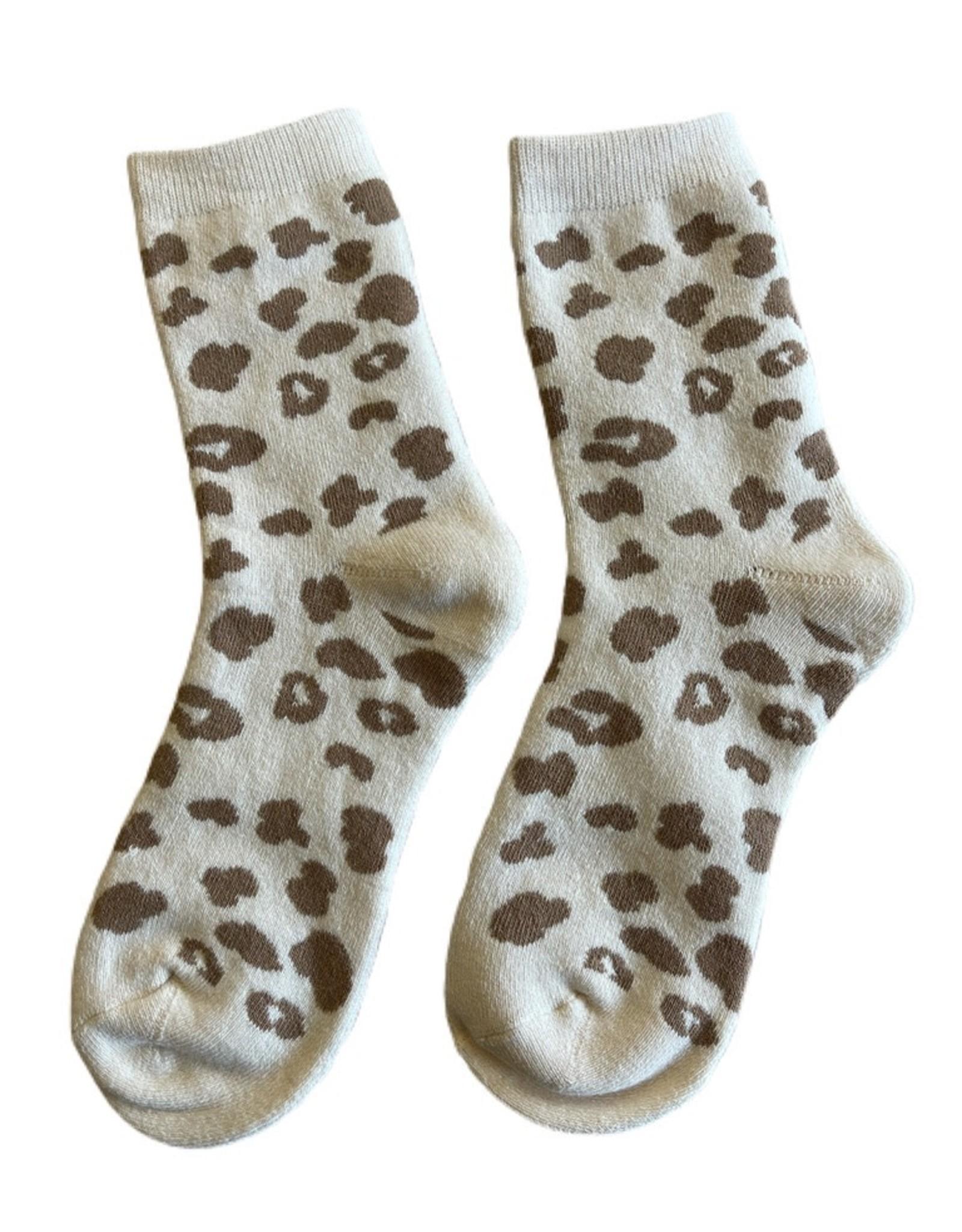 Wyld Blue Leopard Socks