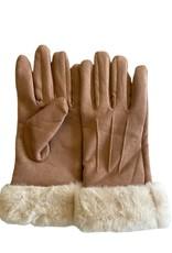 Wyld Blue Fuzzy Cuff Gloves Mauve