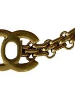 Wyld Blue Vintage Chanel Turnlock Bracelet Chain Link