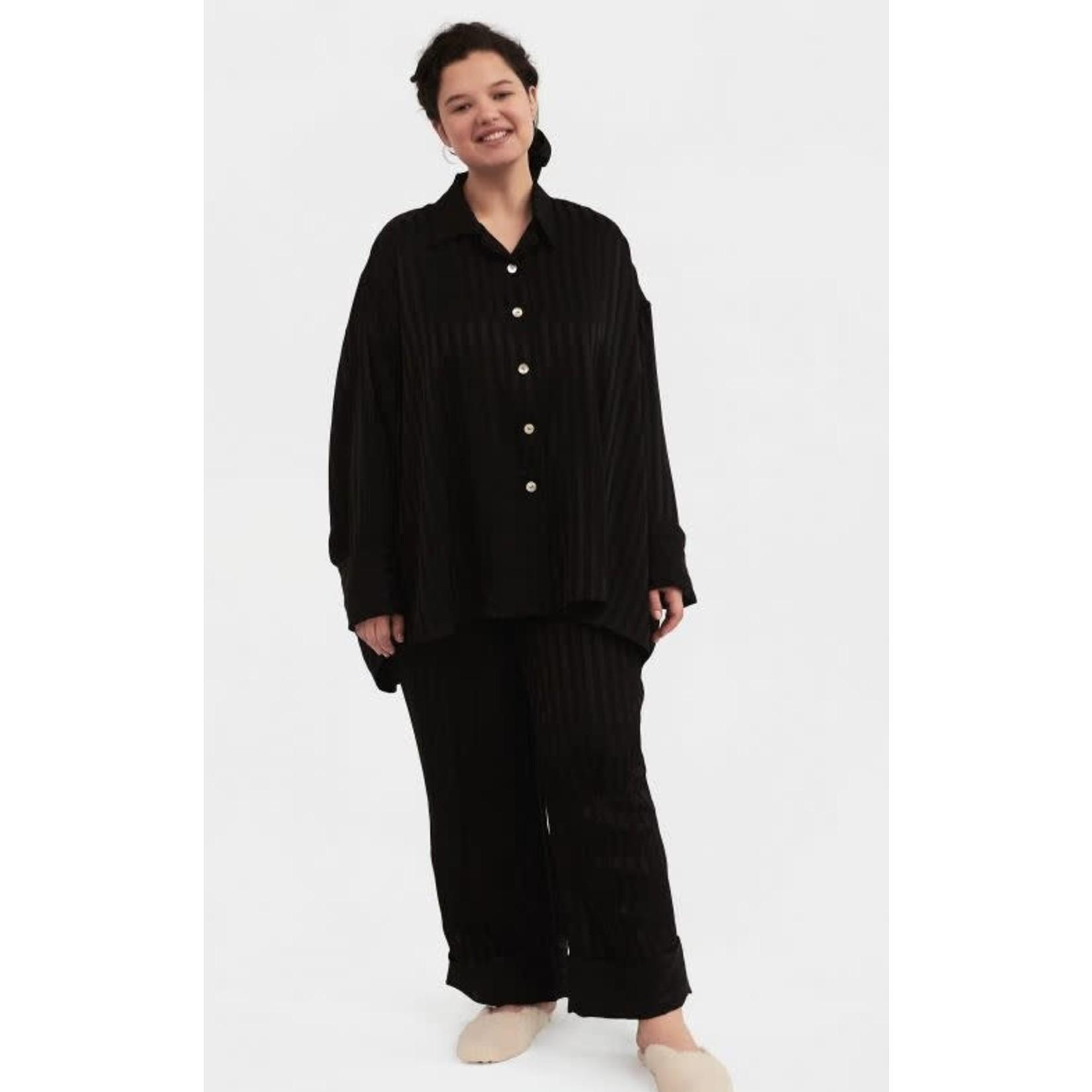 The Sleeper Viscose Pajama Set in Black
