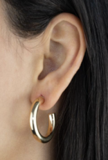 Adinas Thick Hollow Hoop Earring