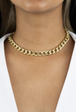 Adinas Hollow Chunky Curb Chain Choker