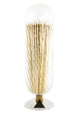Wyld Blue Home Helix Fireplace Match Cloche White Tipped Matches