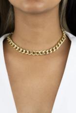 Adinas Large Miami Curb Link Necklace