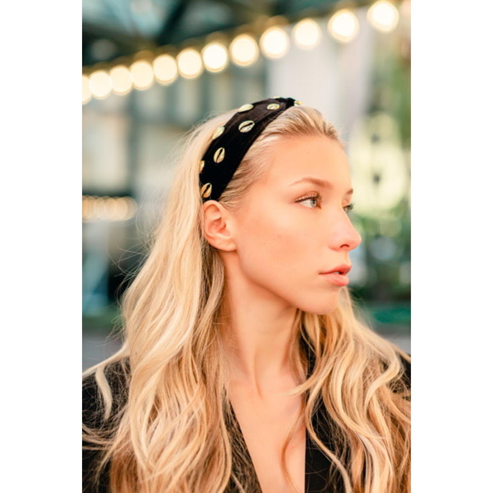 Adriana Pappas Velvet Shell Headband