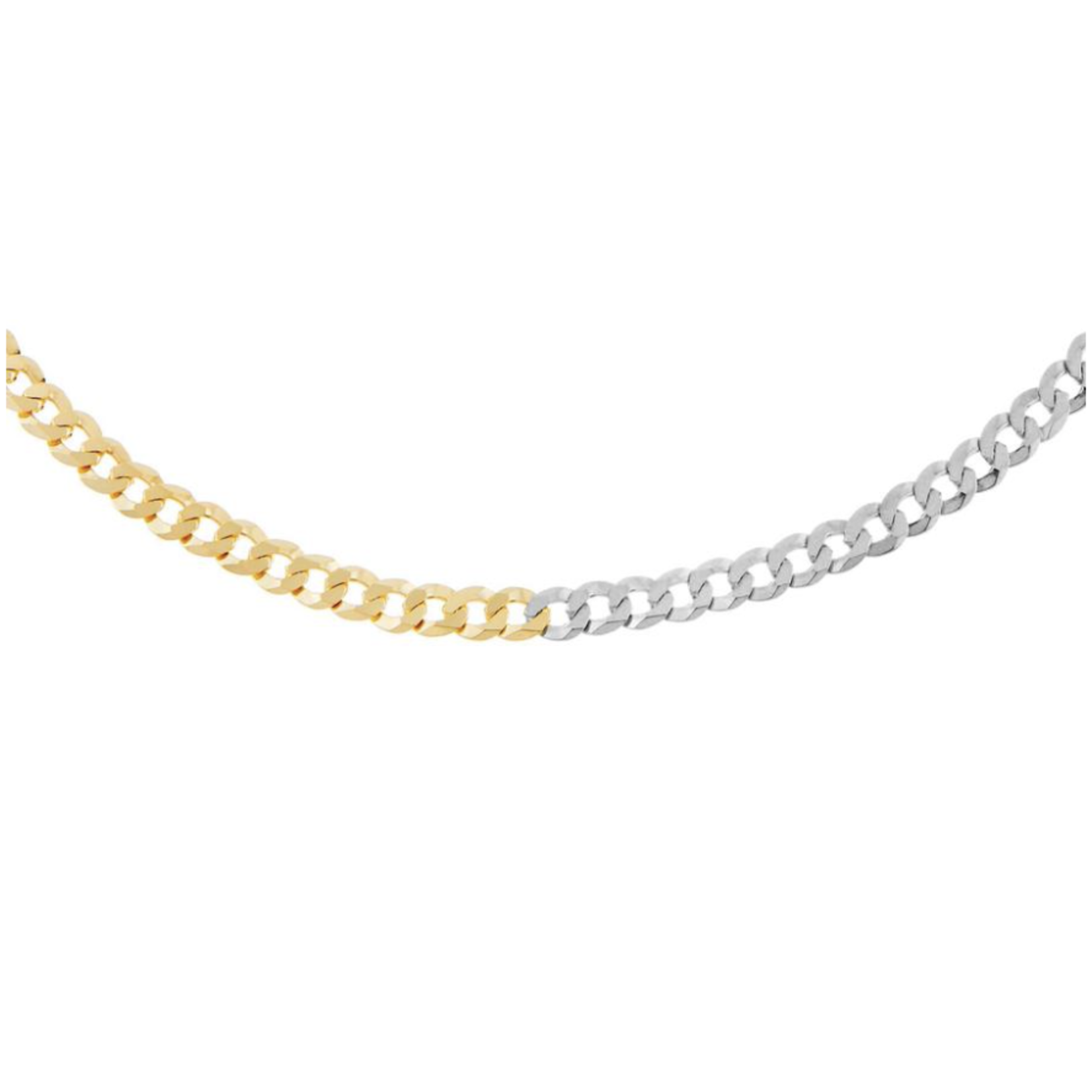 Adinas Two Tone Flat Curb Necklace