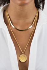 Adinas Liquid Herringbone Necklace 14k