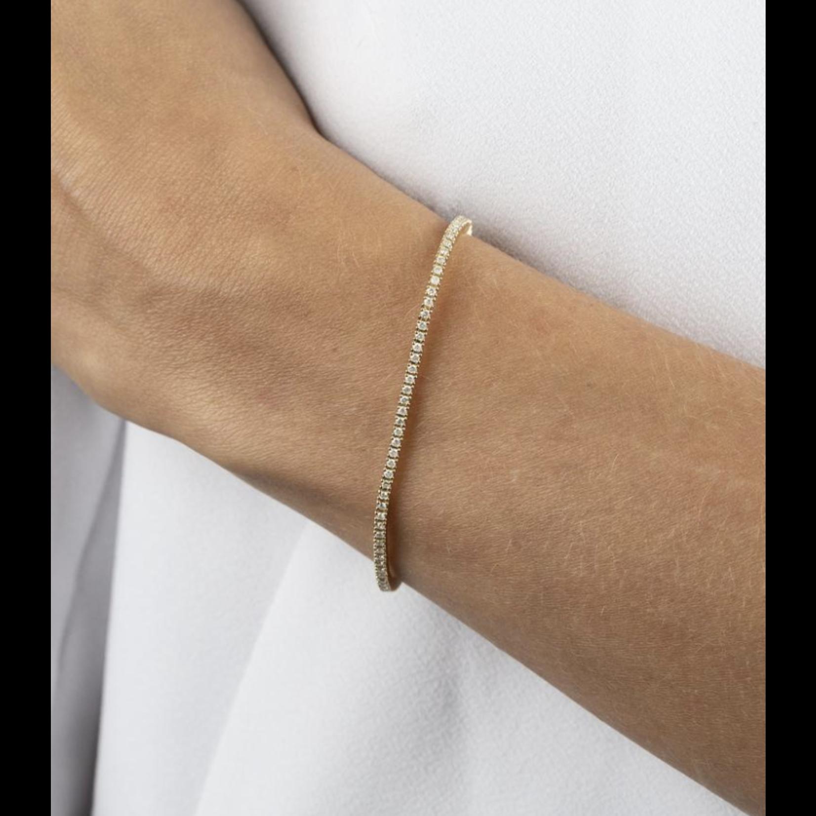 Adinas Diamond Thin Tennis Bracelet 14K 7 in