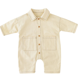 Wyld Blue Kids Cream Collared Romper