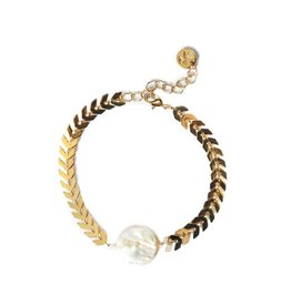 Chevron Pearl Bracelet