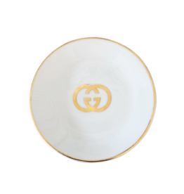 Wyld Blue Home Gucci GG Jewelry Tray White/Gold