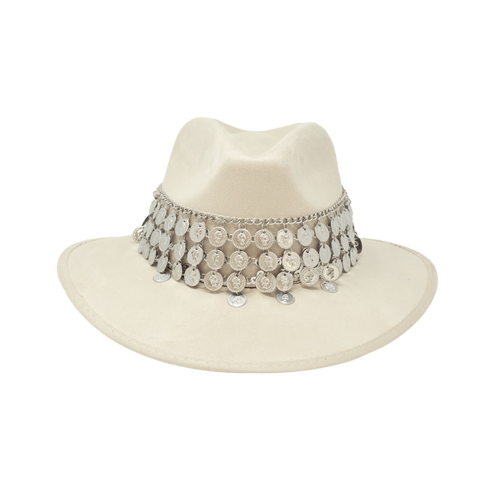 Tuluminati Chaac Hat White Suede