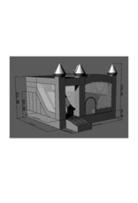 Sasha Benz Blow up Bouncy Castle -  Slide Layout with Mesh