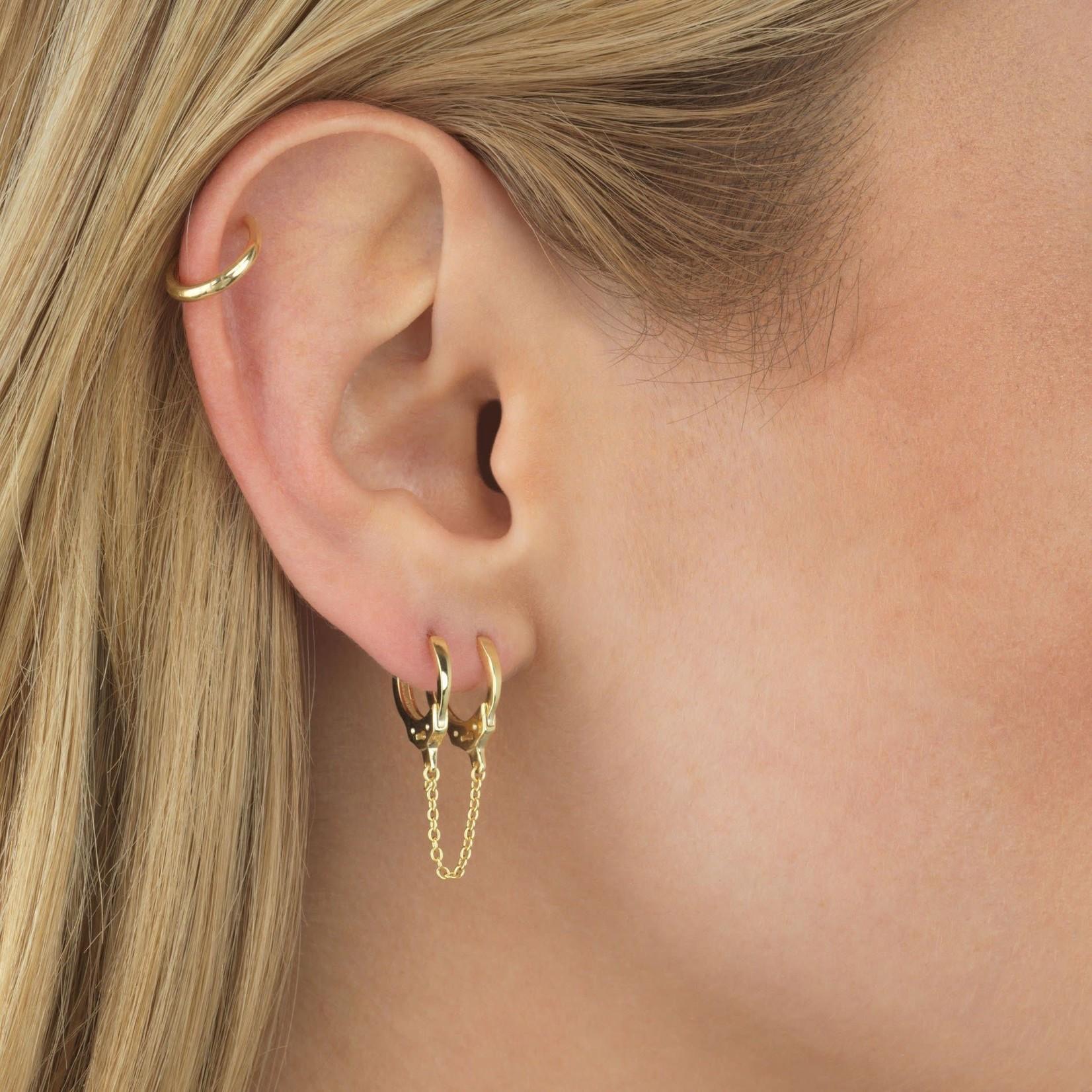Adinas Handcuff Chain Huggie Earring