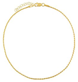 Adinas Thin Rope Chain Anklet