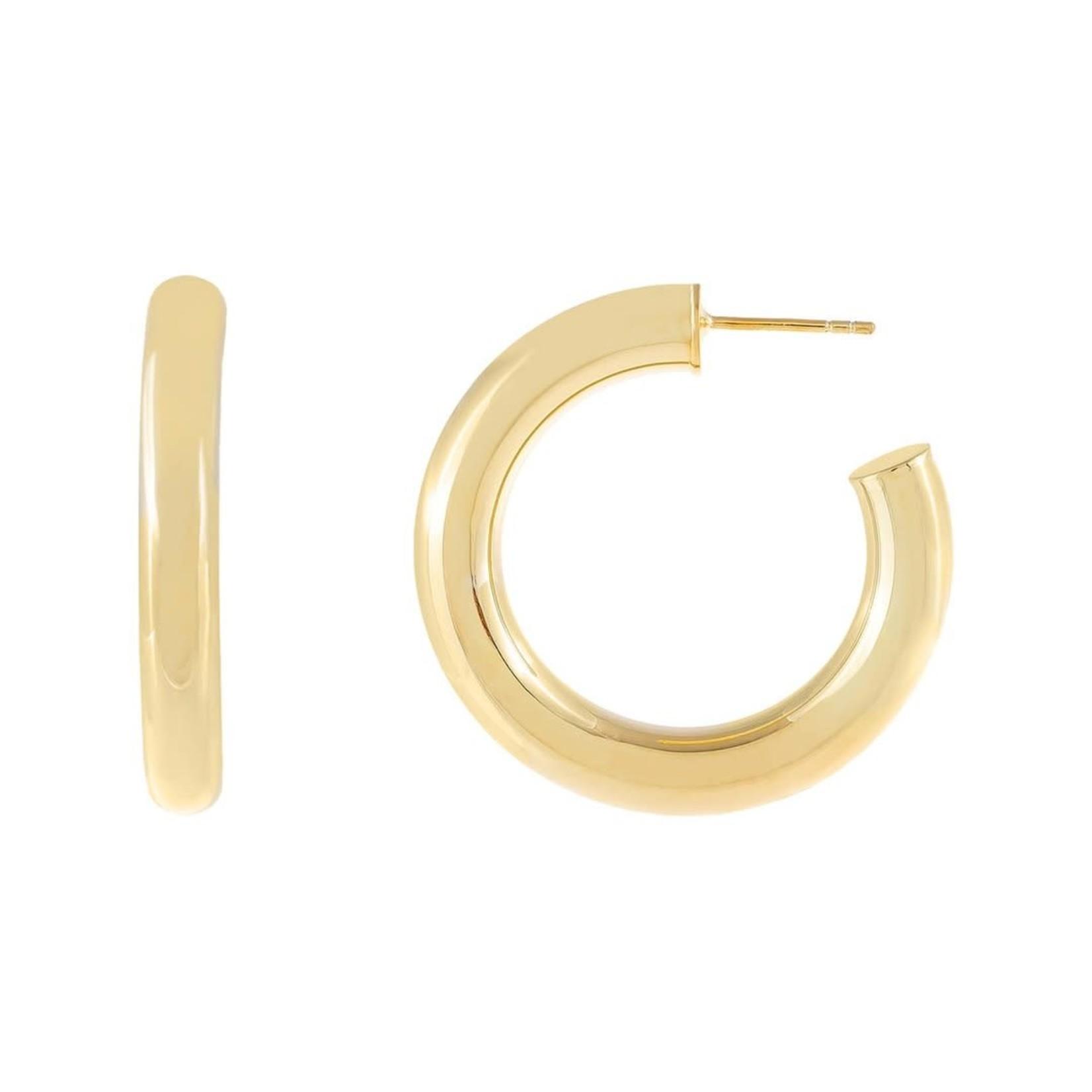 Adinas Tubular Hoop Earrings 35mm